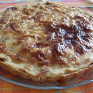 simple à cuisiner Quiche lorraine végétalienne préparation