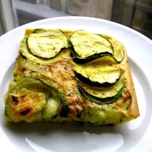 simple à cuisiner Quiche sans pâte aux courgettes et au curry préparation