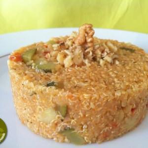 simple à cuisiner Quinoa aux courgettes et tomates façon Risotto recette végétarienne
