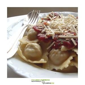 facile à cuisiner Raviolis végétaliens cuisine végétarienne