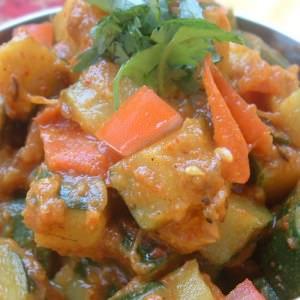 simple à cuisiner Recette indienne courgettes aux épices cuisine végétarienne