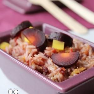 facile à cuisiner Risotto de Carottes Violettes & Jaunes recette de