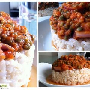 facile Riz semi-complet à la sauce bolognaise végétalienne recette