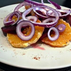 rapide à cuisiner Salade de betteraves et d'oranges cuisine végétarienne