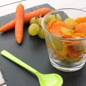 rapide à cuisiner Verrines de carottes aux raisins recette de