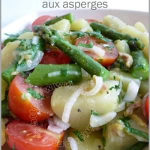 simple à préparer Salade de pommes de tere aux asperges cuisine végétarienne
