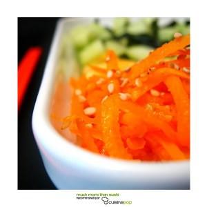 rapide Salade nippone carottes et concombre cuisine végétarienne