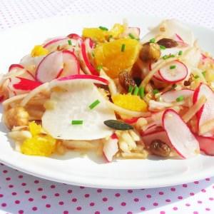 facile Salade vitaminée aux deux radis recette végétarienne