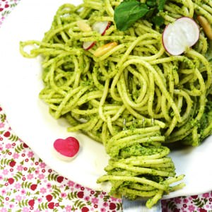 simple à préparer Sauce Ricotta Pesto de Cresso recette végétarienne