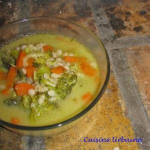 facile Soupe à l'orge et au pistou cuisine végétarienne