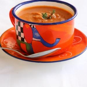 facile à cuisiner Soupe de pois chiches à la tomate recette de