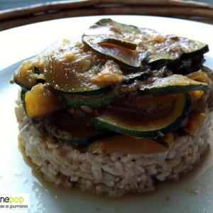 simple à cuisiner Sucré-salé de riz aux courgettes cuisine végétarienne