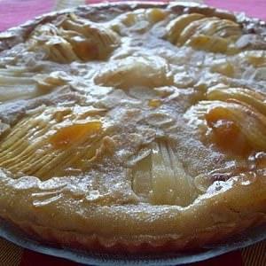 rapide à cuisiner Tarte amandine, pommes poires (Vegan) recette de