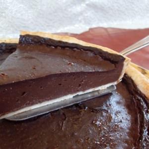 facile à cuisiner Tarte au flan, chocolat noir (Vegan)  cuisine végétarienne