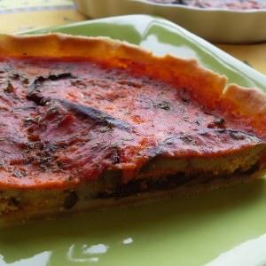 facile à cuisiner Tarte végétalienne aux aubergines recette de