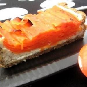 facile Tarte aux carottes et au chèvre frais recette