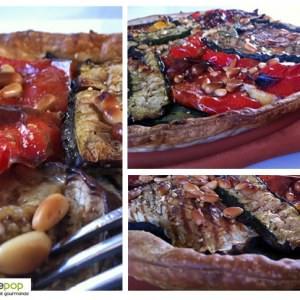 simple à cuisiner Tarte aux légumes grillés et wasabi recette