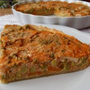 facile à cuisiner Tarte végétalienne aux petits pois et au tofu cuisiner la recette