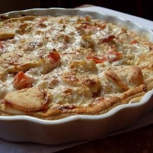 simple à préparer Tarte végétalienne aux pommes de terre, chou-fleur et... cuisiner la recette