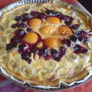 simple à cuisiner Tarte aux fruits  recette végétarienne
