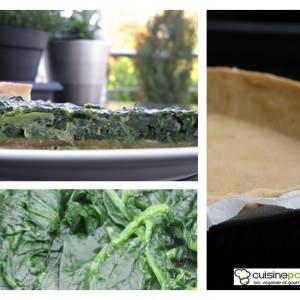 simple à préparer Tarte épinards et roquefort préparation