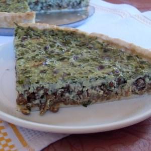 facile Tarte végétalienne saucisses - lentilles préparation