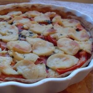 rapide Tarte végétalienne aux tomates et fromage cuisiner la recette