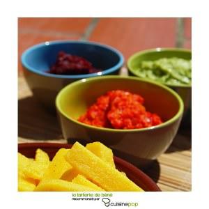 simple à cuisiner Tartinades betterave, poivrons et guacamole recette