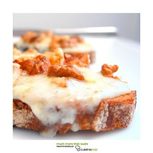 facile Tartines Roquefort et noix cuisiner la recette