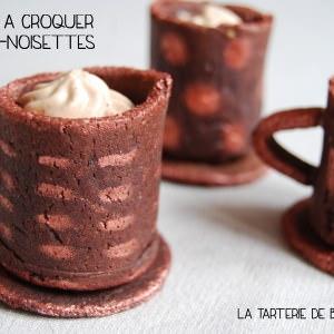 facile à cuisiner Tasses à croquer choco-noisettes recette végétarienne