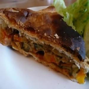 rapide à cuisiner Tourte végétalienne trio de légumes et sauce amandine cuisiner la recette