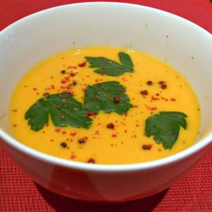 simple à préparer Velouté de carottes au lait de coco préparation