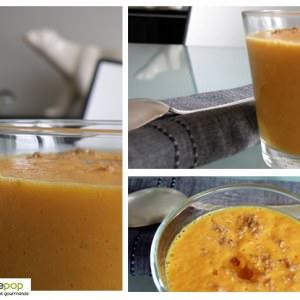 simple à cuisiner Velouté de potiron parfumé à l'amande  recette végétarienne
