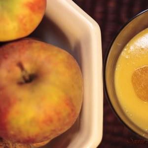 rapide à cuisiner Verrine à la pomme et au gingembre préparation