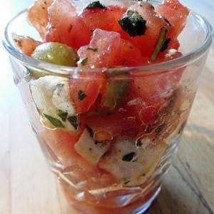 simple à cuisiner Verrine de tartare de tomates au chèvre cuisiner la recette