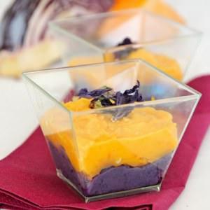 rapide à cuisiner Verrines chou rouge butternut préparation