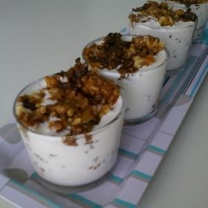 facile à cuisiner Verrines de fromage frais aux noix, tomates séchées et... recette de