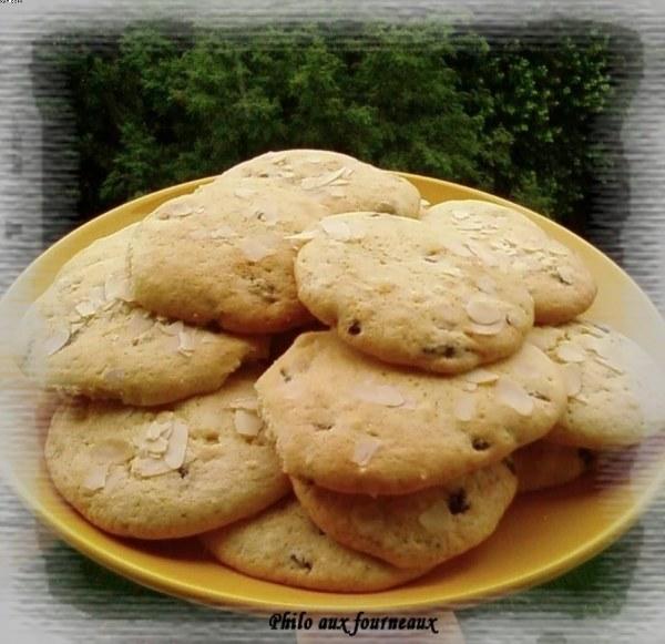 Biscuits aux raisins & amandes effilées