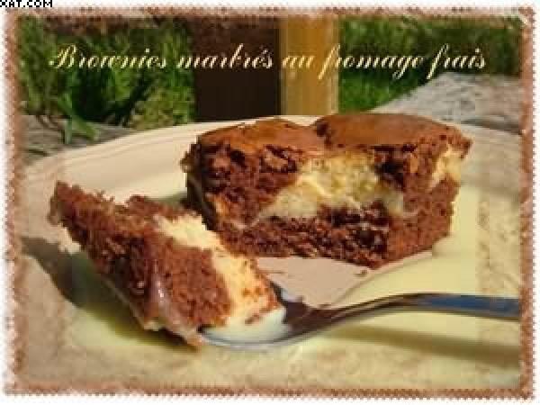 Brownie marbré au fromage frais