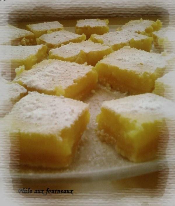 Carrés au citron