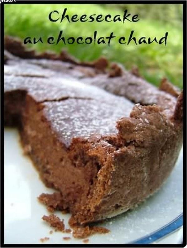 Cheesecake au Chocolat chaud