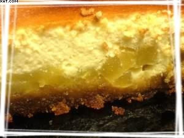 Cheesecake au miel, pain d'épices et pommes caramélisées