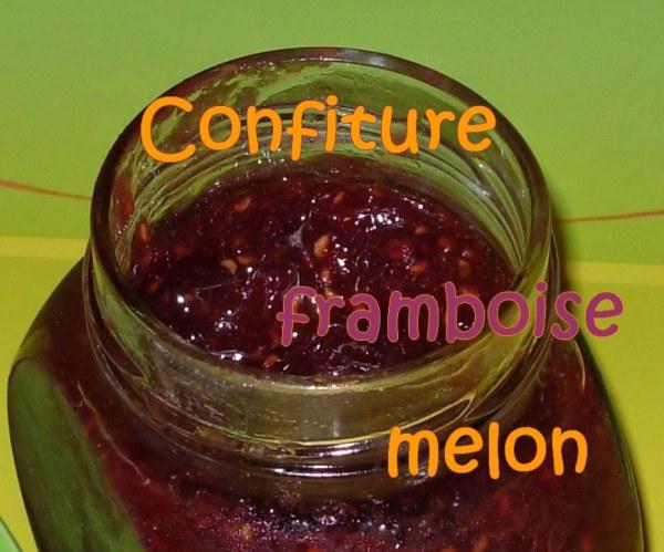 Confiture de melon aux framboises