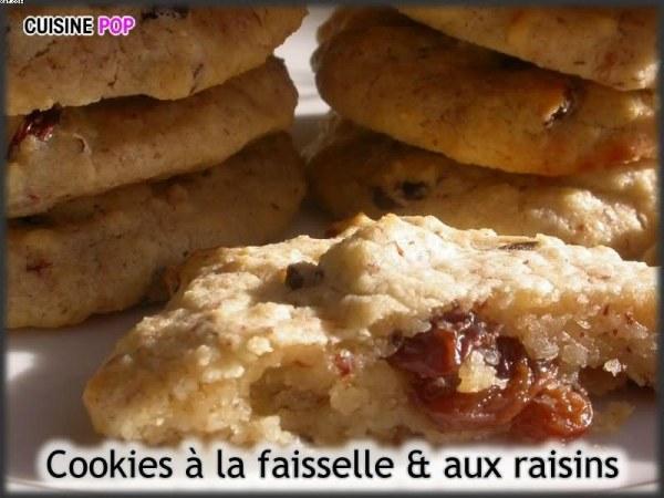 Cookies à la faisselle et aux raisins secs