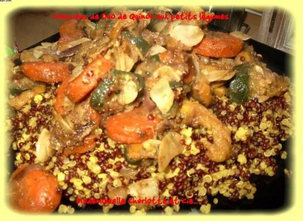 Couscous de quinoa aux petits légumes