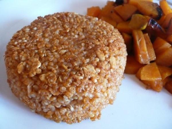 Croustillant au quinoa et carottes sautées