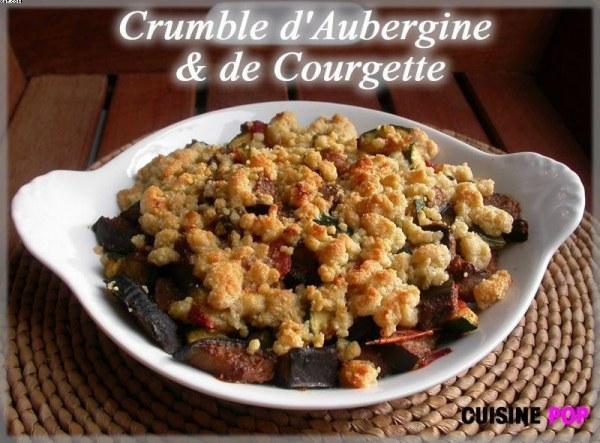 Crumble d'aubergine et de courgette