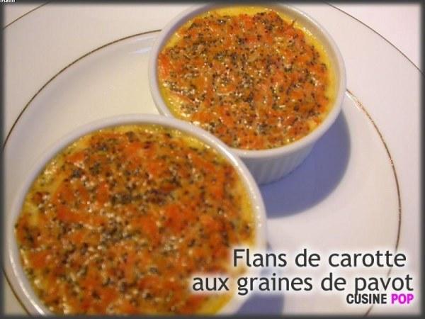 Flans de carotte aux graines de pavot