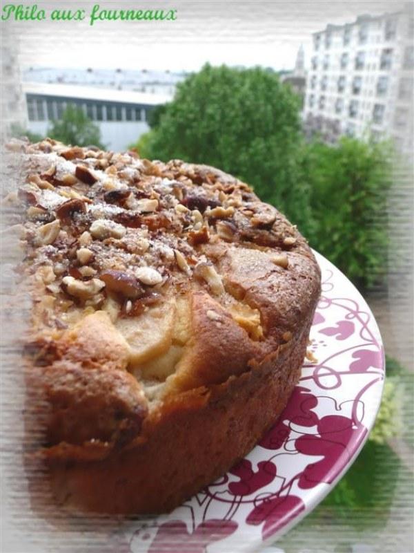 Gâteau aux poires & aux noisettes