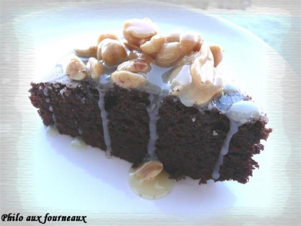 Brownies au caramel & aux cacahuètes